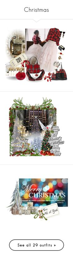 """""""Christmas"""" by miss-amazing-grace ❤ liked on Polyvore featuring Chicwish, Edie Parker, The Sak, Black Swan, Disney, Lene Bjerre, Bling Jewelry, art, American Eagle Outfitters and H&M"""
