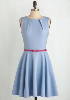 Luck Be a Lady Dress in Powder Blue. If youve been searching for a charming new frock, then youre in luck! #blue #modcloth