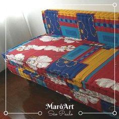 Sofá de palete e futon