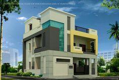 3 Storey House Design, Duplex House Design, House Front Design, Philippines House Design, Philippine Houses, House Design Pictures, Interior Design Photos, House Elevation, Building Design