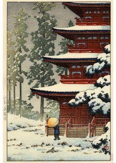 ARTMEMO La neige en estampe japonaise