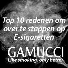 Top 10 redenen om over te stappen op E-sigaretten