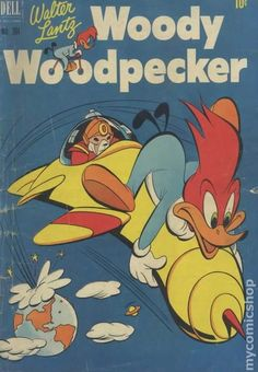 Four Color (1942 Series 2) 364 Woody Woodpecker dell comic books vintage tv cartoons