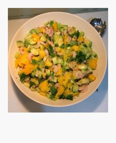 Mango Salsa Mango Salsa, Cantaloupe, Potato Salad, Potatoes, Fruit, Ethnic Recipes, Food, Potato, Essen