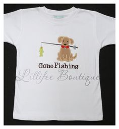 My Fishing Buddy Applique Tshirt with Monogram by lillifeeboutique, $22.00