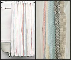 ANTHROPOLOGIE Home Sechura Shower Curtain Chic Embroidered Gorgeous | eBay