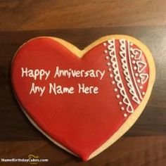 Write name on romantic marriage anniversary cakes and share happy anniversary wishes to your friends and family in a special way. Anniversary Cake With Photo, Marriage Anniversary Cake, Happy Wedding Anniversary Wishes, Happy Anniversary Cakes, Happy Birthday Girl Funny, Happy Birthday Wishes Cake, Happy Birthday Video, Special Birthday Cakes, Birthday Images