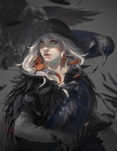 ArtStation - A gathering of the crows, Fariba Khamseh