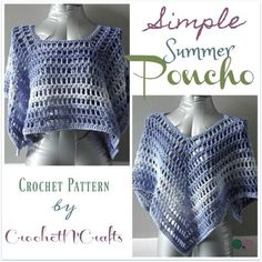 Simple Summer Poncho ~ FREE Crochet Pattern