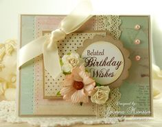 Inspired by Stamping Birthday Wishes Stamp Set, Birthday Card, Belated Birthday
