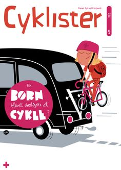 "Cover Illustration by Luke Seguin-Magee for the Danish Cyclists Federation's ""Cyklister"" magazine"