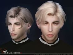 WINGS - male OE0818 Hair for The Sims 4