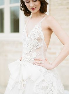 One of a kind sheer lace Vera Wang wedding dress: http://www.stylemepretty.com/2016/09/27/sylvie-gils-vintage-inspired-workshop-in-the-south-of-france-part-i/ Photography: Sylvie Gil - http://www.sylviegilphotography.com/