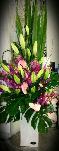 Tall Corporate Flower Mix
