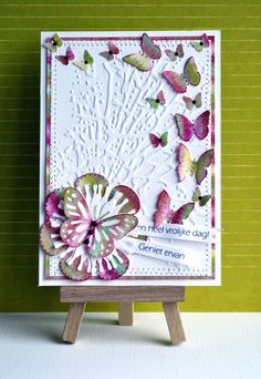 Dutch Card Lovers: Challenge #129  lots of butterfly cards