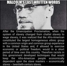 Malcolm X Last words.