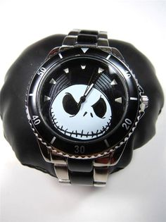 Disney Jack Skellington Metal Analog Wristwatch Silver New In Box #Disney #Casual