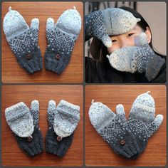 Ravelry: Gradient Flip-Top Mittens pattern by Amy Gunderson Mittens Pattern, Knit Mittens, Aran Weight Yarn, Flipping, Fingerless Gloves, Handmade Items, Handmade Products, Arm Warmers, Convertible