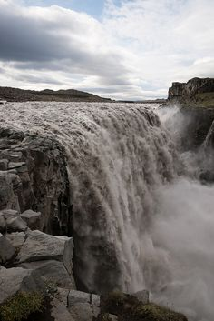 Reputed to be the most powerful waterfall in Europe, Dettifoss, Iceland (by marc.alhadeff).