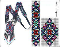 узоры для гердан, и для жгутов - много Handmade-kursy ,wzory ,tutoriale: Beading,biżuteria koralikowa -wzory kwiatowe