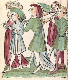 'Virginal' — Hagenau - Werkstatt Diebold Lauber, um 1444-1448 Cod. Pal. germ. 324 Folio 309v