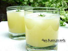 Agua de pera con menta una receta increíblemente fácil de hacer para una bebida refrescante