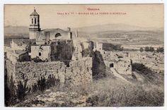 Postal de GIrona Ruinas de la torre