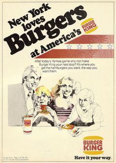 Burger King vintage ad