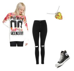 """Concert?"" by beautyizme on Polyvore featuring Topshop and Converse"