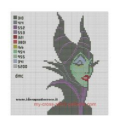Maleficent cross stitch pattern free - Google Search