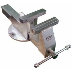 The Yost is the only bench vise available in stainless steel. This bench vise is extremely useful in clean rooms and food processing. The vise comes with stainless steel smooth jaws and hard plastic smooth jaws for more delicate items. Metal Working Machines, Metal Working Tools, Diy Pergola Kits, Metal Fabrication Tools, Cnc, Metal Art Projects, Metal Shop, Machine Tools, Cool Tools