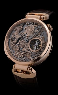 """Tourbillon, minute repeater with animations "" draw its origin from the ancient Chinese civilization and represents the five elements or the four cardinal point"