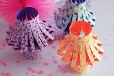 lanternes kawai en papier origami | origami paper lantern
