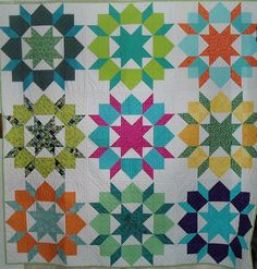 i like this brightly colored Swoon quilt