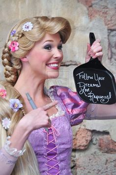 If you bring a frying pan to Disney World, Flynn Rider and Rapunzel will sign it for you!!!