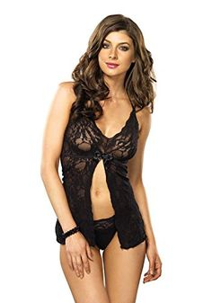 12935b48ed MCO Plus Size Unwrap Baby doll Set For Women Floral Soft Lace Sexy Lingerie  Hot Erotic Nightwear and G String Sleepwear