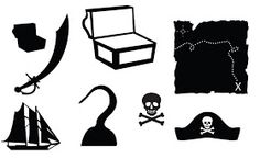 FREE cut file: Pirate party goodies.