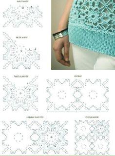 9 MODELOS DE BLUSAS PARA TEJER A CROCHET CON PASTILLAS PATRONES Y GRAFICOS | Patrones Crochet, Manualidades y Reciclado