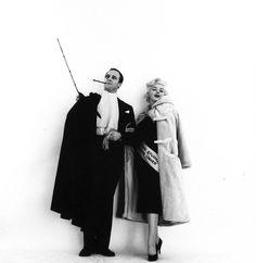 Marlon Brando & Marilyn Monroe photographed by Milton Greene, 1955.