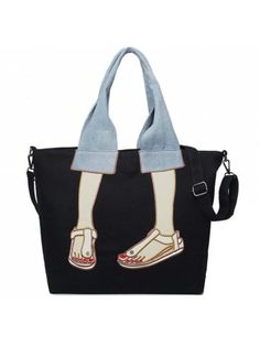 Canvas Funny Embroidery Tote Bag - Cheapest and Latest women & men fashion site including categories such as dresses, shoes, bags and - Funny Embroidery, Embroidery Bags, Sacs Design, Tote Bags Online, 31 Bags, Patchwork Bags, Denim Patchwork, Patchwork Quilting, Denim Quilts