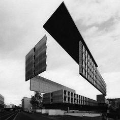 Artist Espen Dietrichson Dramatically Deconstructs Lyon's Modernist Buildings