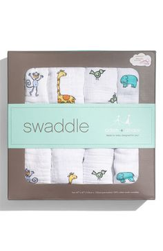 Aden & Anais 4 Pack of Swaddling Blankets. In my opinion, buy 2 packs of these and call it a day because these were the only swaddling and/or receiving blankets worth buying! They're adorable and super long which makes it easy to wrap your baby comfortably and to adjust if needed. These blankets are also made from natural fibers and are incredibly thin, soft, and breathable for your piece of mind and for baby's comfort. My son is over a year old & still uses these blankets as a sheet.