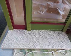 Cobblestone fan pattern in model scales.