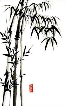 christinebrassington.com Most of the Japanese bamboo paintings from ancient times that have been discovered by archaeologists were created by the followers of Buddhism and Zen Buddhism. Japanese Artwork, Japanese Painting, Chinese Painting, Chinese Art, Chinese Dragon, Sketch Painting, Ink Painting, Korean Art, Asian Art