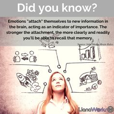 Emotions attach themselves to new information in the brain, acting as an indicator of importance. The stronger the emotional attachment, the stronger the #memory.  #brainhacks