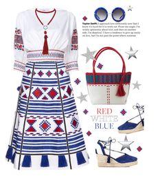 Red, White & Blue by lence-59 on Polyvore featuring TIBI, Vita Kin, Kanna Shoes, NOVICA, Marina J., Dolce&Gabbana and fourthofjuly