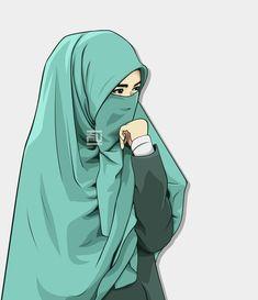 I love hijab I love islam 💖💖💖 Hijab Niqab, Muslim Hijab, Islam Muslim, Cartoon Pics, Girl Cartoon, Cover Wattpad, Muslim Pictures, Geisha, Hijab Drawing