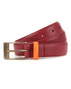 Bright color block belt - Dark Red | Belts | Ted Baker