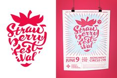 Strawberry Festival Logo and Poster