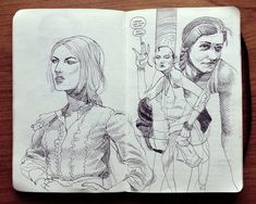 The Swiss Doodler, sketches by Jared Muralt, via Behance